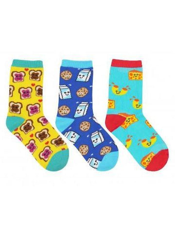 Kid's BFF (Best Foods Forever) Graphic Socks 3-Pack