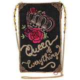 Mary Frances Queen of Everything, Beaded Crossbody Phone Bag