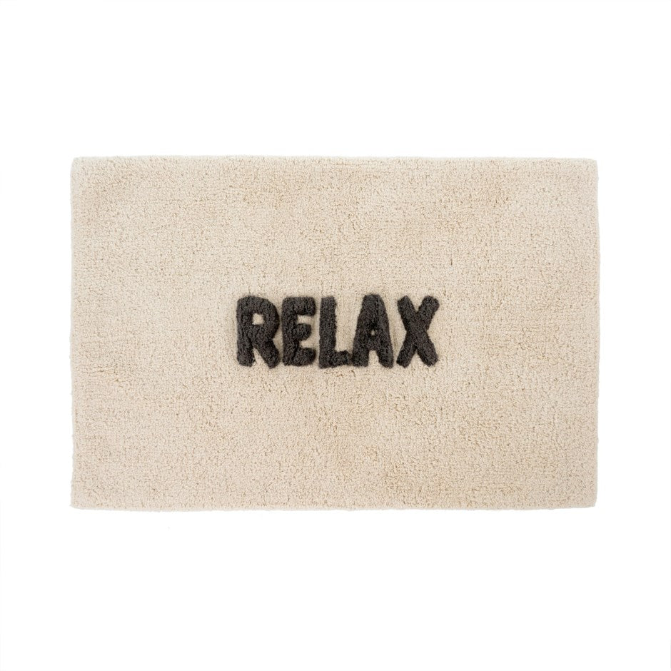Relax Bath Mat - Black and Beige