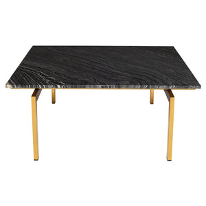 Louve Coffee Table - Black And Gold