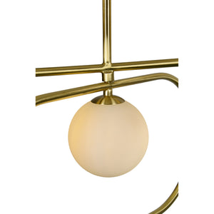 Robin Satin Brass Chandelier