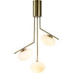 Palpatine Brushed Brass Chandelier