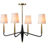 Hargrove Antique Brushed Brass Chandelier