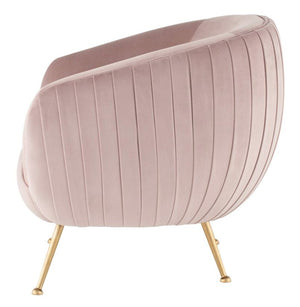 Sofia Occasional Chair-  Blush / Black