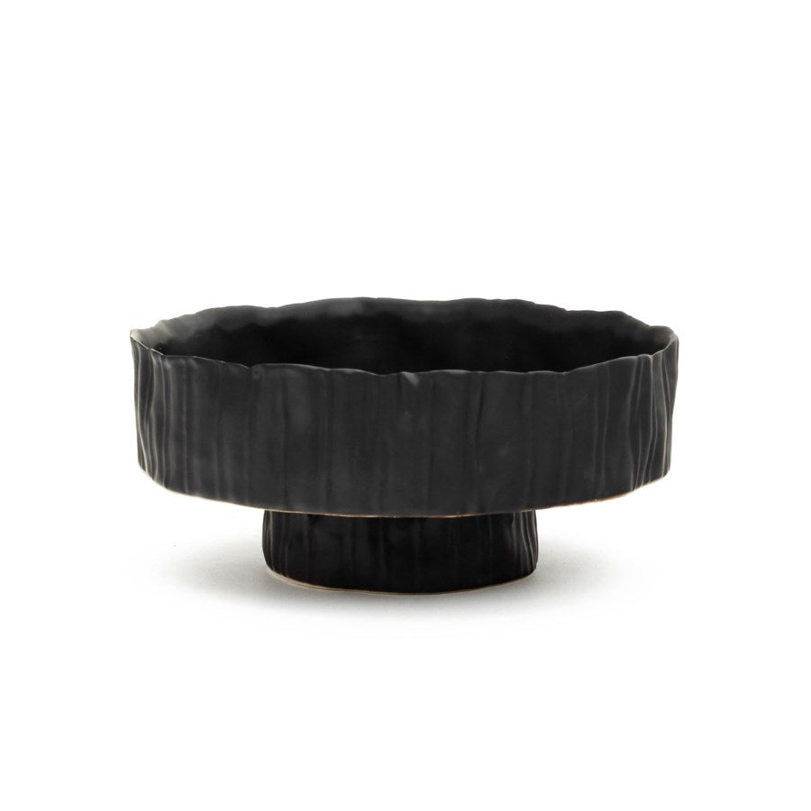 Marina Planter Stand - Black Ceramic