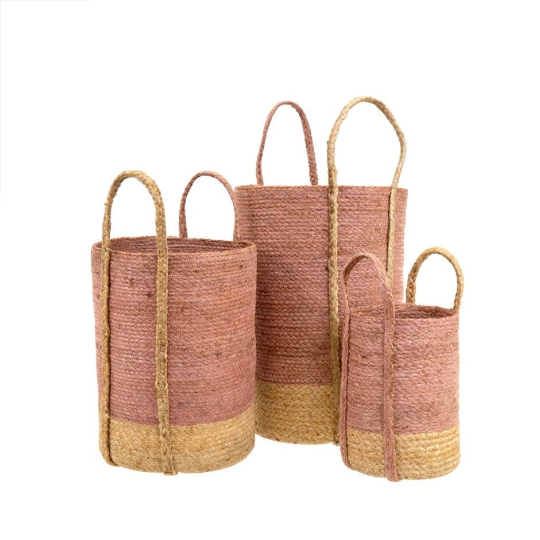 GIBSON JUTE BASKET - SET OF 3