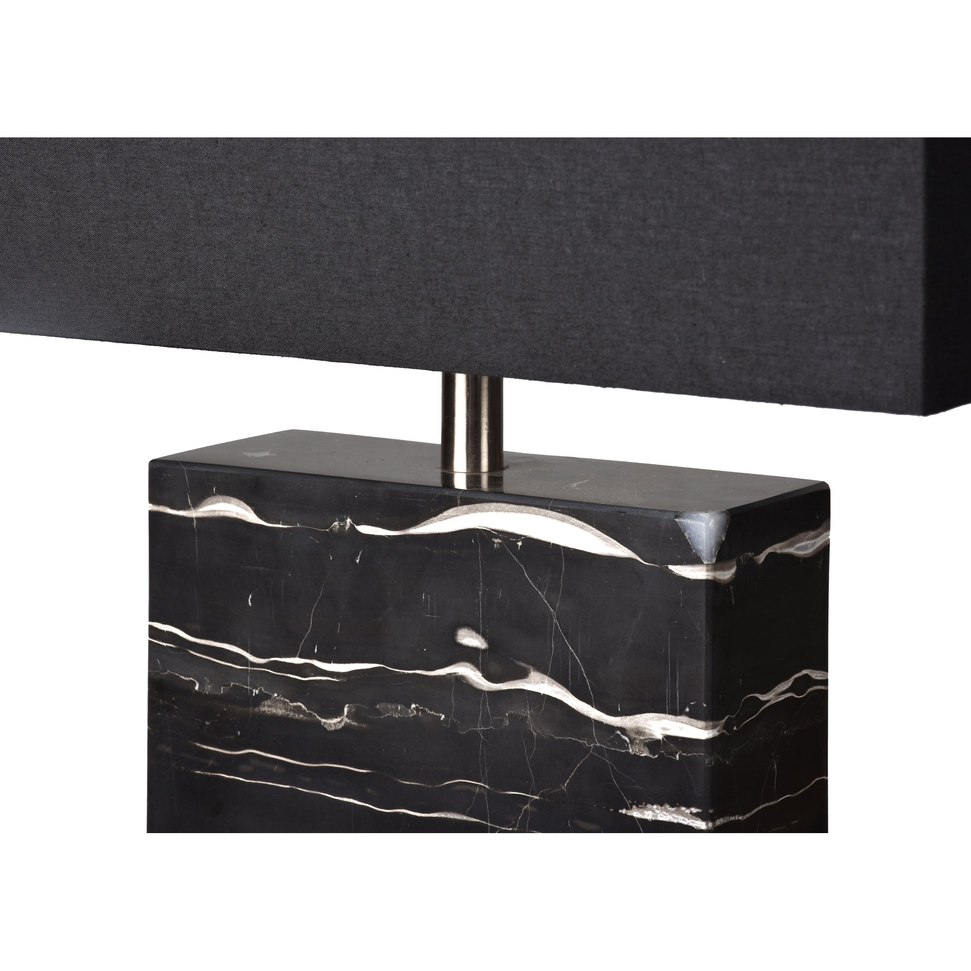 Rydell Black Marble Table Lamp