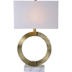 Skylar Antique Brass Table Lamp