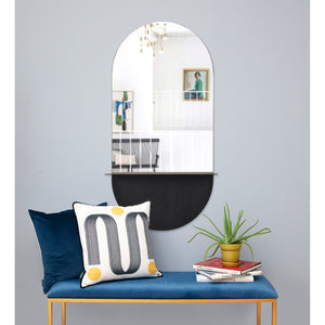 Lisdarra Iron Wall Mirror - Antique Brass - Painted Finish