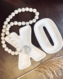XO CERAMIC PLATE SET