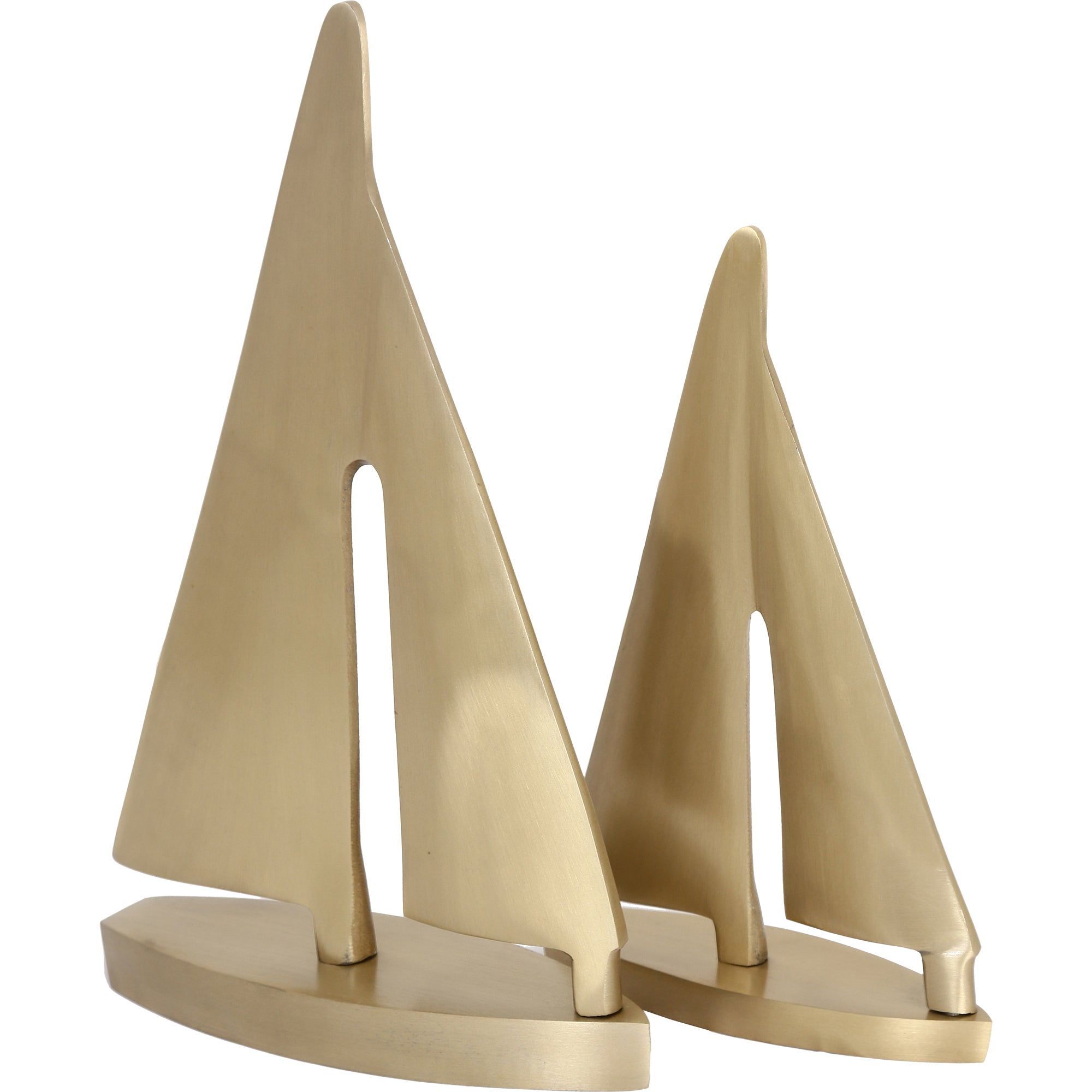 Fable Gold Boat Statue - Set Of 2