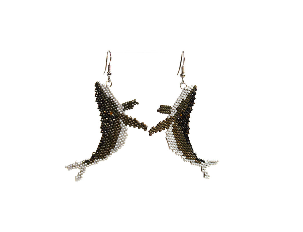 Alicia Wiese, Humpback Whale Earrings