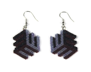 Alicia Wiese, Purple Illusion Earrings