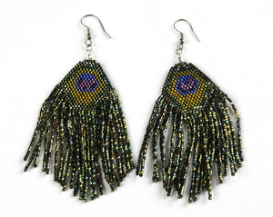 Alicia Wiese, Peacock Feather Earrings