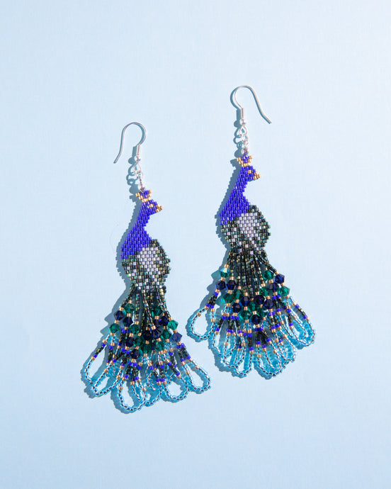 Alicia Wiese, Peacock Earrings