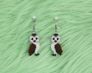 Alicia Wiese, Barn Owl Earrings