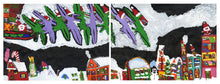 "Load image into Gallery viewer, Ashlea Karkula, ""A Dino Christmas"" (diptych)"