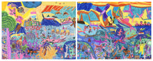 "Load image into Gallery viewer, Ashlea Karkula, ""Denizens of the Deep"" (diptych)"