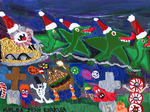"Ashlea Karkula, ""Santa and His Pterodactyls II"""