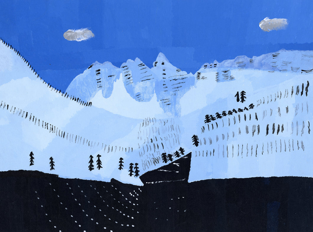 Carl Clark, Untitled (Snow-Capped Mountains)