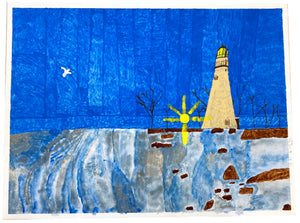 Carl Clark, Untitled (Lighthouse)