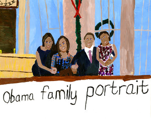"Dan Schlag, ""Obama Family Portrait"""