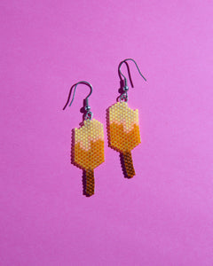 Alicia Wiese, Orange Creamsicle Earrings