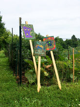 "Load image into Gallery viewer, Mike Harris Jr., ""Bee Habitat"" Garden Sign"