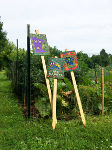"Mike Harris Jr., ""Bee Habitat"" Garden Sign"