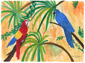 Ingrid Hansen, Untitled (Macaws)