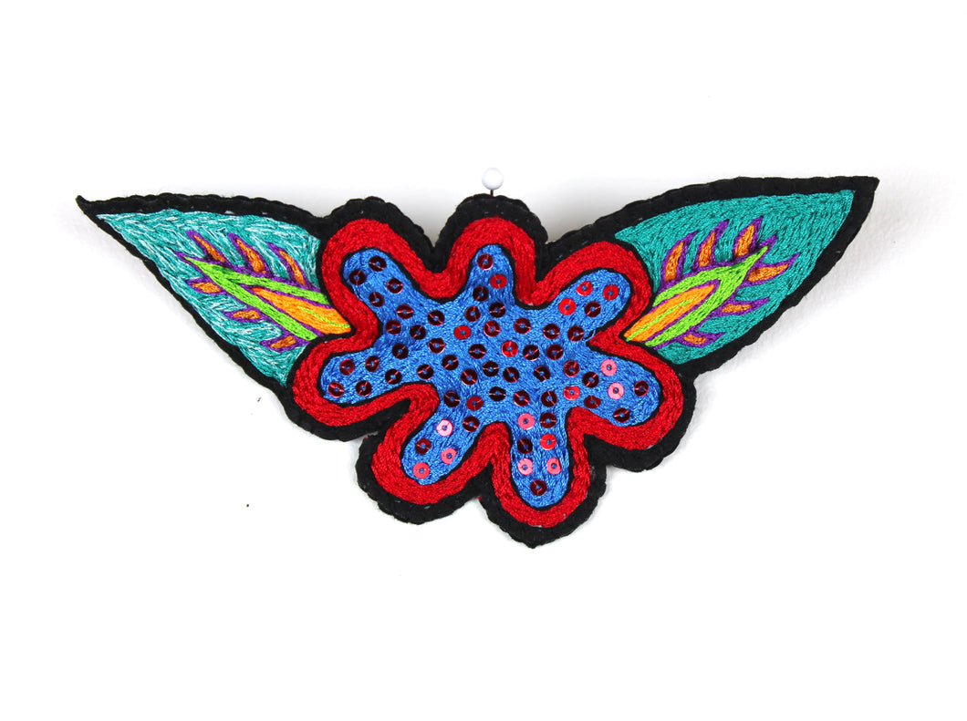 Linda Strong, Embroidered Hair Clip