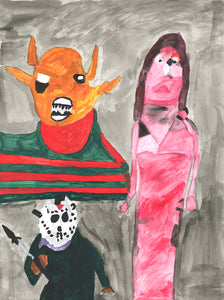 "Lucy Picasso, ""Freddy Kruger, Carrie, and Jason"""