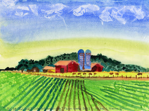 "Mike Harris Jr. ""Untitled (Farm Scene 1431)"""