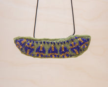 Load image into Gallery viewer, Rosemary Perronteau, Olive Felt Necklace