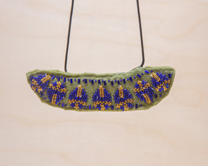Rosemary Perronteau, Olive Felt Necklace