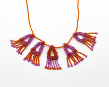 Load image into Gallery viewer, Rosemary Perronteau, Orange and Pink Beaded Necklace
