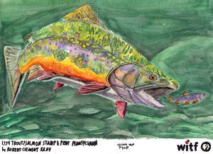 "Victor Van, ""1994 Trout Salmon Stamp & Print (Pennsylvania) by Robert Clement Kray"""