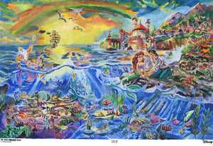 "Victor Van, ""The Little Mermaid by Thomas Kinkade"""