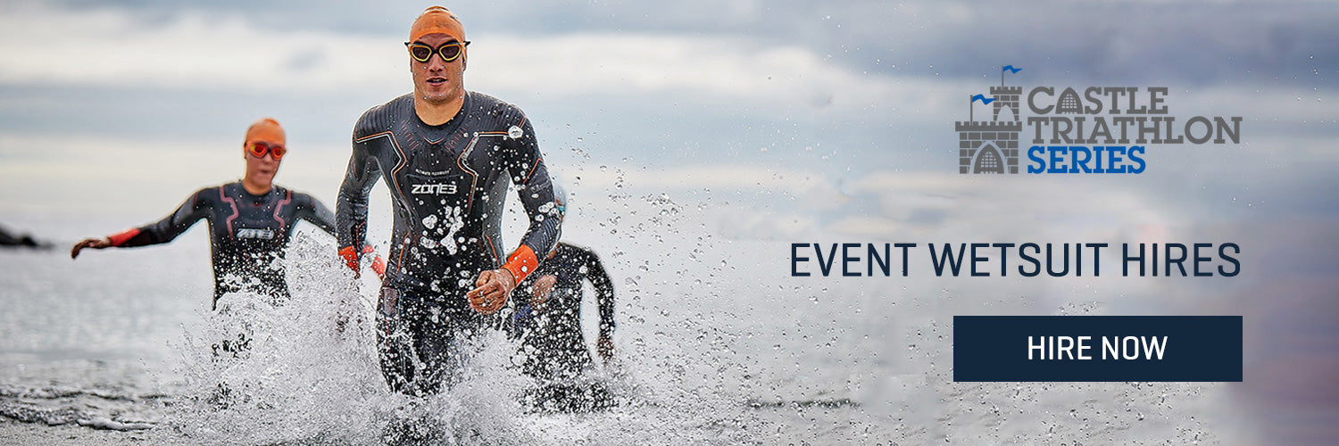 Castle Tri Series wetsuit hire collection page banner