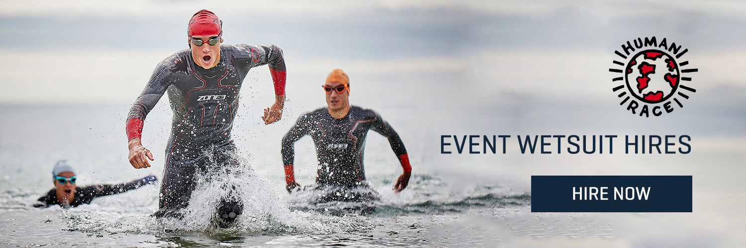 Shop Wetsuit Hires Now Banner for Human Race Hub