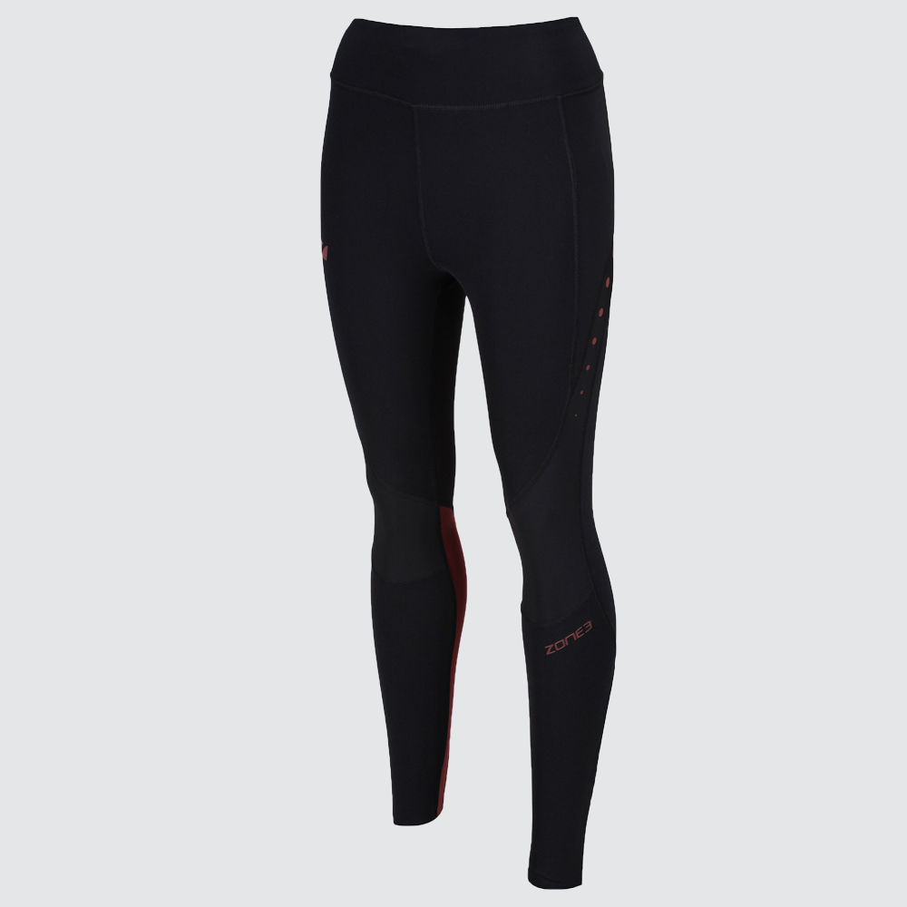 Women's RX3 Medical Grade Compression Tights - Black/Maroon