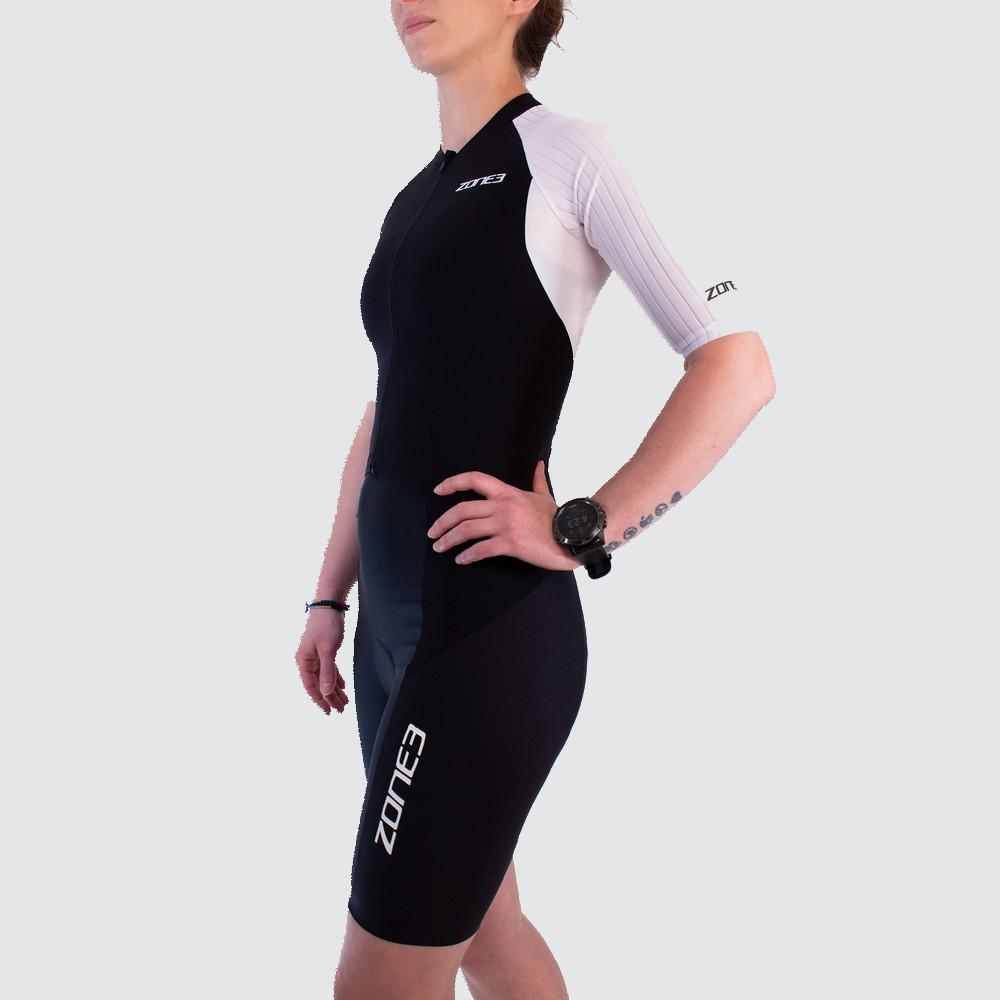 Women's Lava Long Distance Full Zip Short Sleeve Tri suit