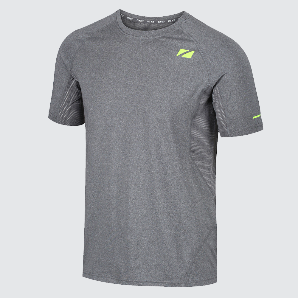 Men's Power Burst T-Shirt - Grey/Neon Yellow