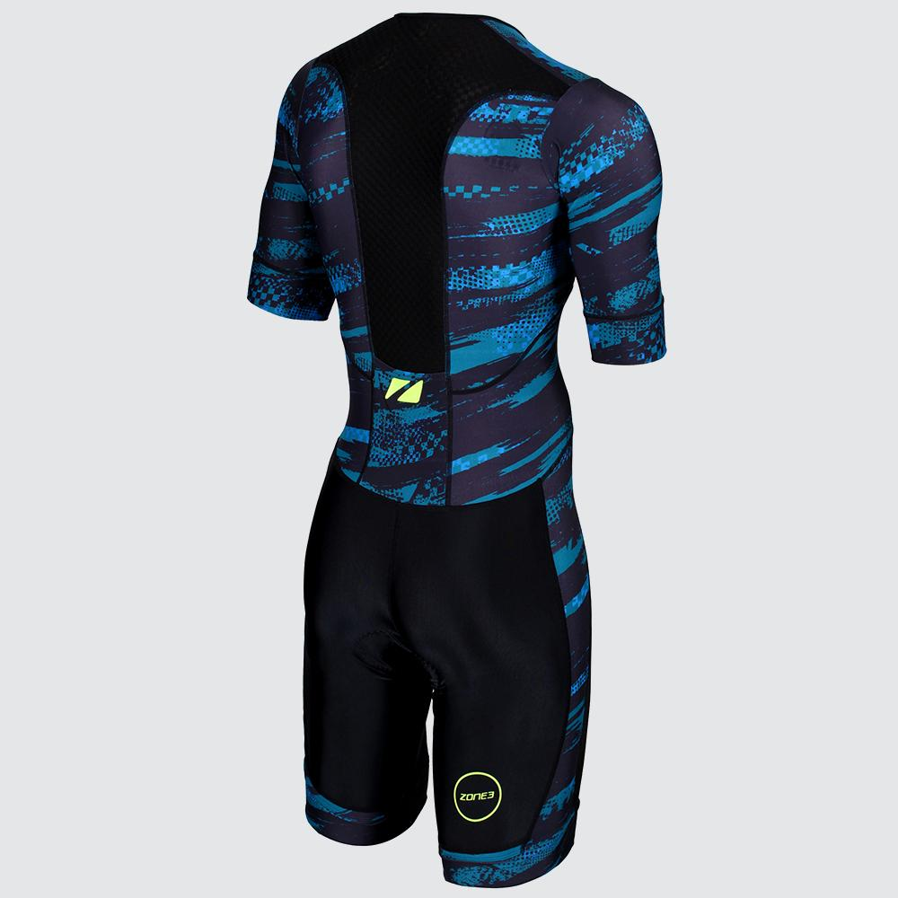 Men's Activate Plus Short Sleeve Trisuit blue back