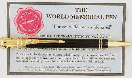 Parker Duofold Ballpen World Memorial Limited Edition