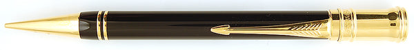 Parker Duofold Pencil in black with gold trim, 1990, 0.9mm