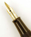 Dunhill Namiki No6 sized pen in black lacquer with maki-e cap band
