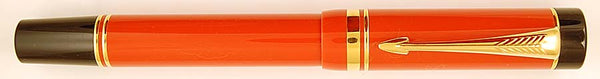 Parker Duofold Centennial Duofold in red/orange - Medium nib