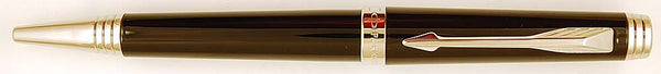Parker Premier ballpen in black with chrome trim