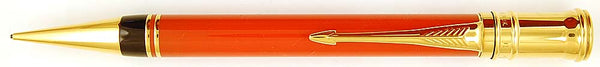 Parker Duofold pencil in orange/red, 0.9mm leads